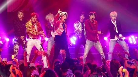 BTS performs during Dick Clark's New Year's