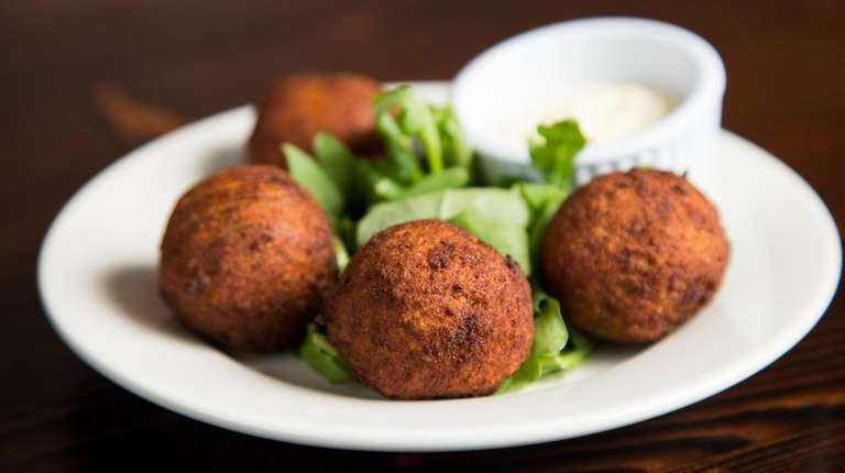 Salted cod croquettes, known as croquetas de bacalao
