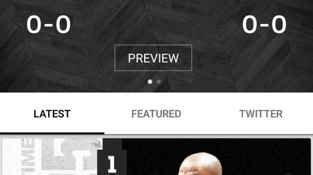 The Brooklyn Nets app features stats, schedules, behind-the-scenes