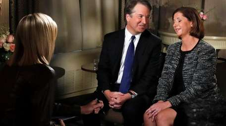 Brett Kavanaugh and his wife, Ashley Estes Kavanaugh,