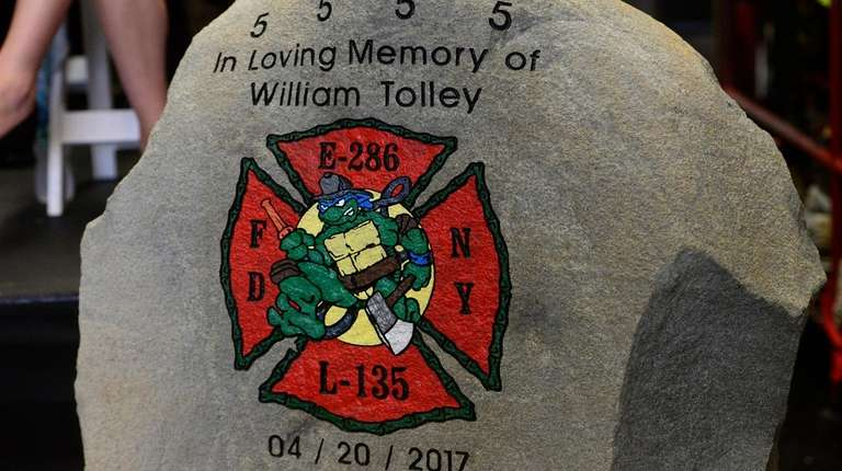 The plaque in honor of William Tolley.