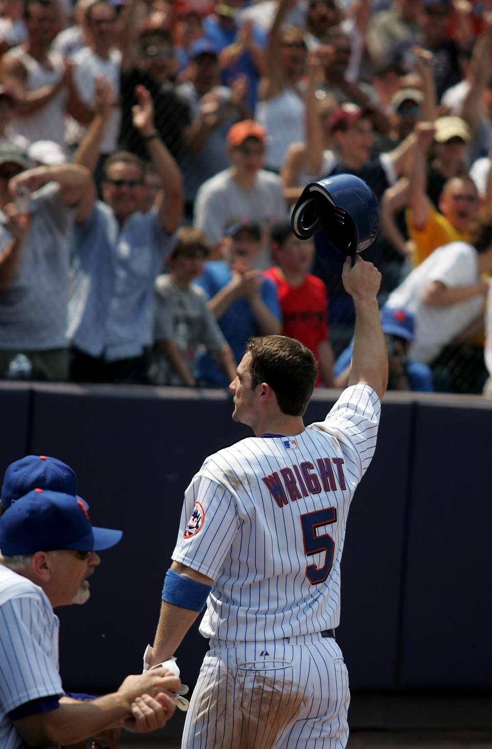 Mets third baseman David Wright comes out for