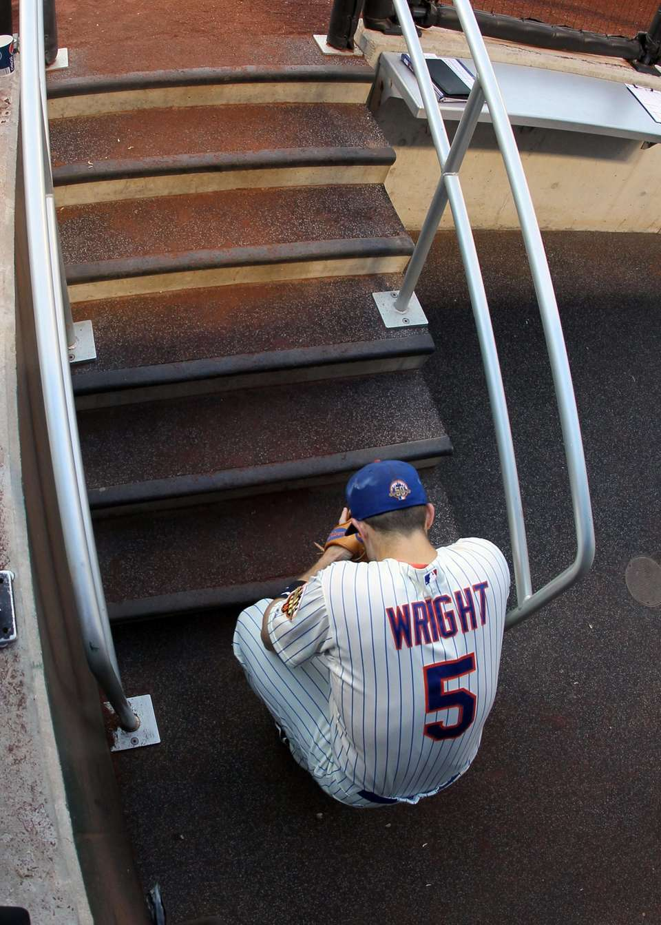 David Wright of the New York Mets waits
