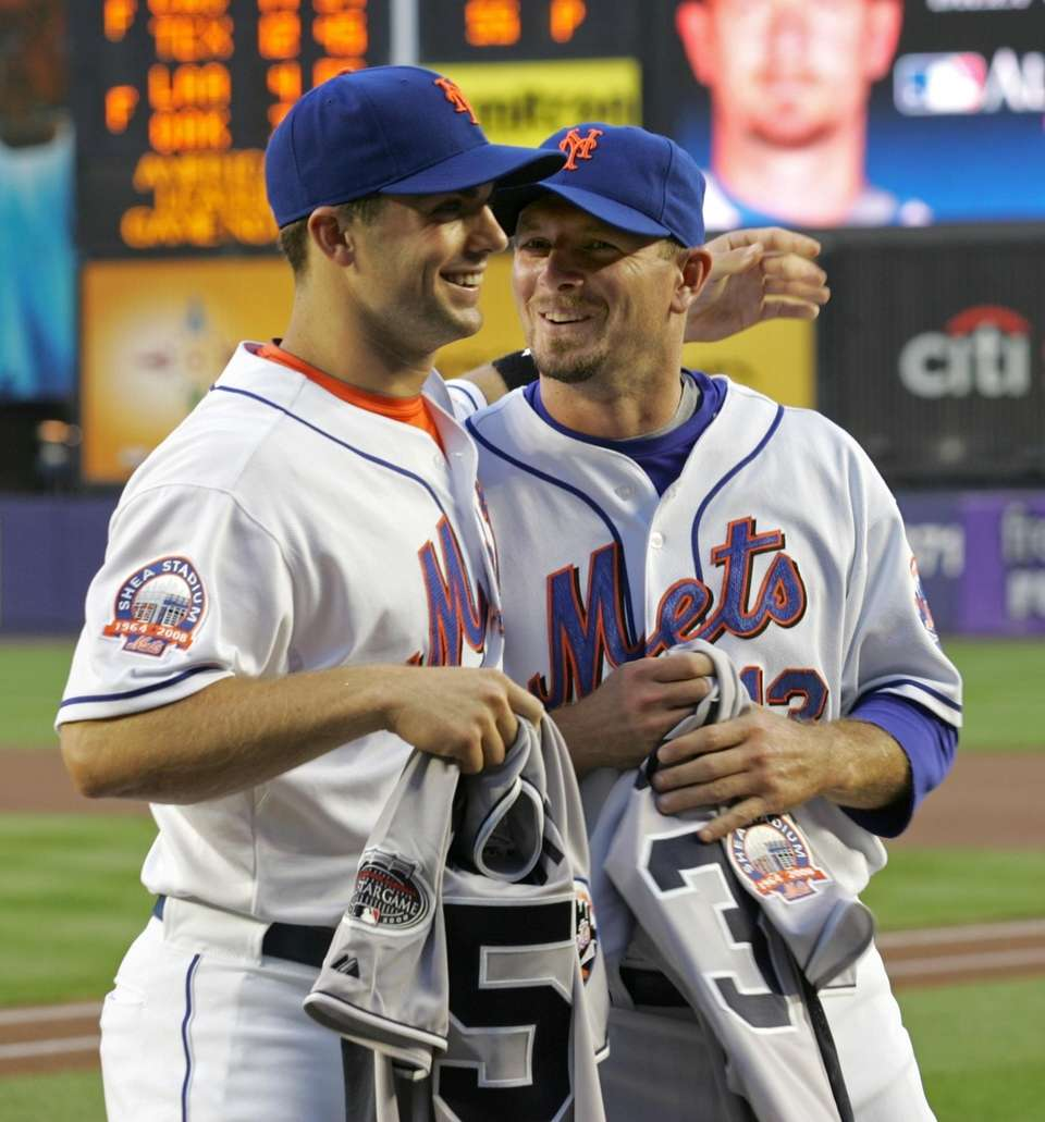 Mets third baseman David Wright and Billy Wagner