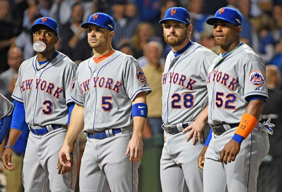 Curtis Granderson, David Wright, Daniel Murphy and Yoenis