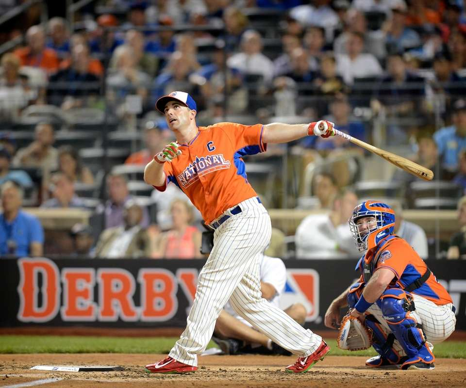 The Mets' David Wright competes for the National