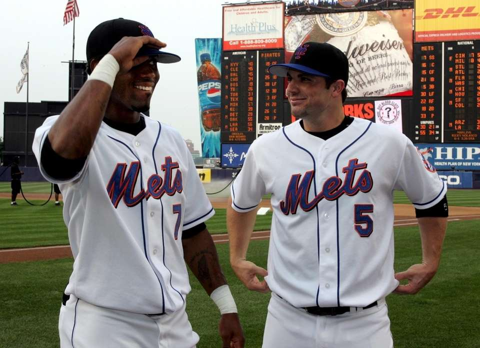 The Mets' Jose Reyes and David Wright are