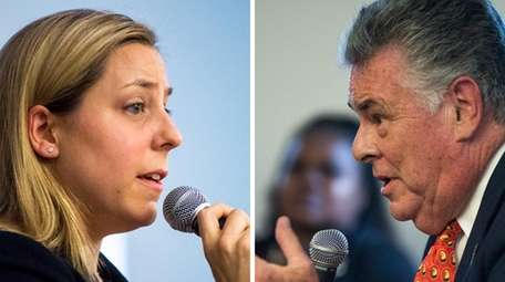 Incumbent Peter King and his challenger Liuba Gretchen