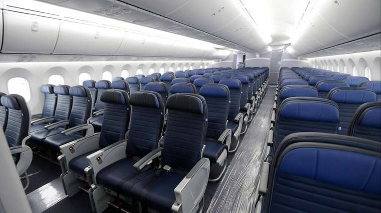 Economy class seating is shown on a new