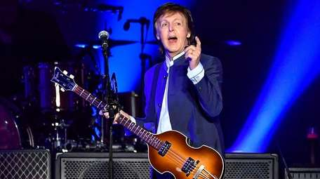 Paul McCartney performs in Fresno, Calif., during