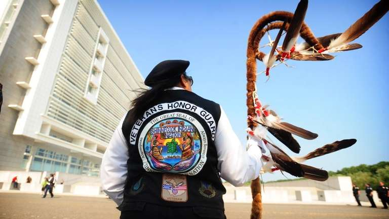 A member of the Shinnecock Indian Nation veterans