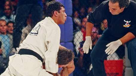 Royce Gracie in action during UFC 1 on