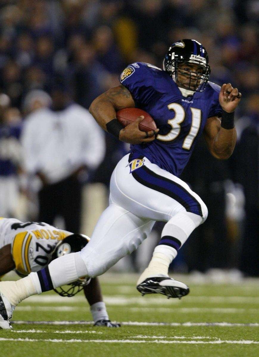 JAMAL LEWIS, BALTIMORE RAVENS, 2003: 2,066 YARDS Buoyed