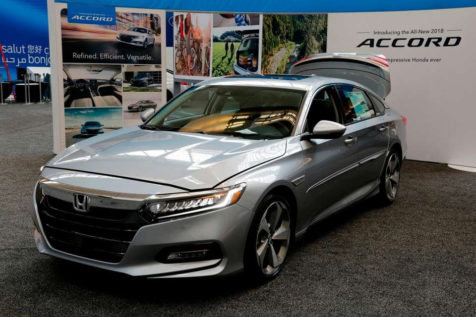 The 2018 Honda Accord on display at the