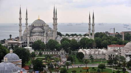The Ottoman-era Sultan Ahmed or Blue Mosque, one
