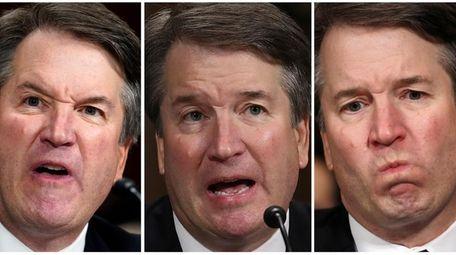 In this photo combination, Supreme court nominee Brett