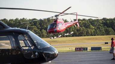 Helicopter traffic at the East Hampton Town Airport