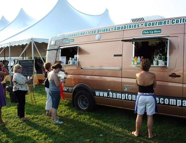 Hampton Coffee Co.'s mobile coffee unit, serving Montauk