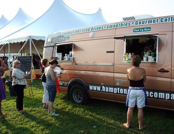 Hampton Coffee Co.'s mobile coffee unit, serving Montauk