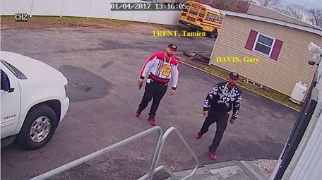 The defendants allegedly seen on security footage.