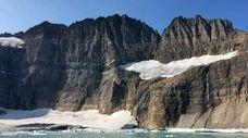 Some glaciers are receding in Glacier National Park
