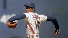 New York Mets pitcher Dwight Gooden in action