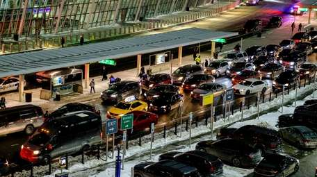 A ruptured water main in Terminal 4 at
