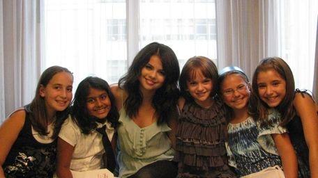 Kidsday reporters, from left, Sari Axelrod, Sarah Khan,