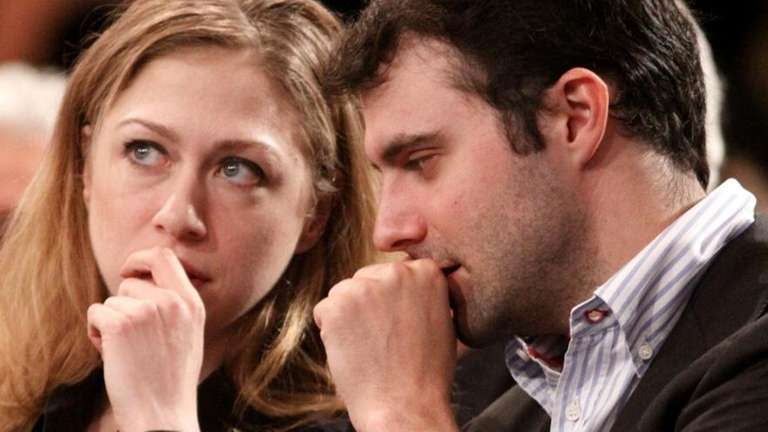 Former first daughter Chelsea Clinton and her fiance,