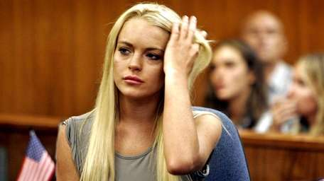 Actress Lindsay Lohan appears in court. (Aug. 13,