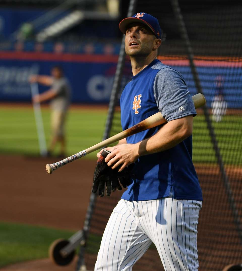 Mets third baseman David Wright during warmups before