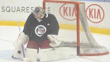 Aleksandar Georgiev #40 makes a save during during
