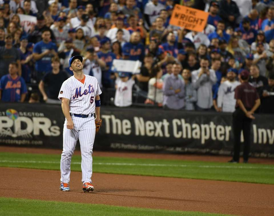 Mets third baseman David Wright on the field