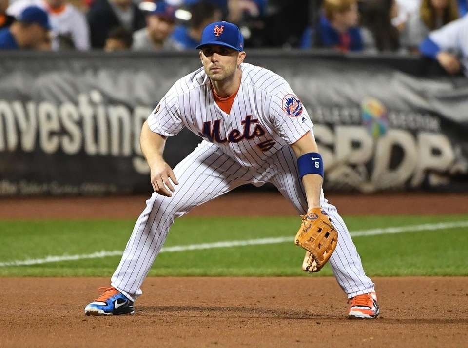New York Mets third baseman David Wright sets