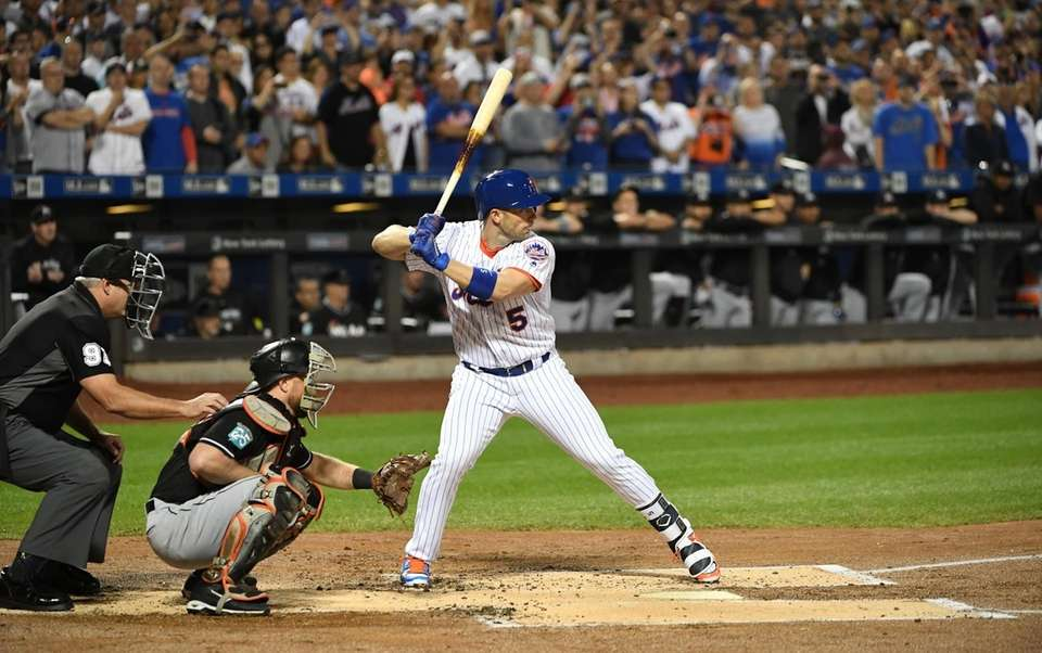 New York Mets third baseman David Wright bats