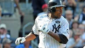 New York Yankees center fielder Curtis Granderson (14)