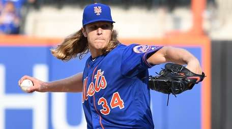The Mets' Noah Syndergaard pitched the first shutout