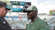 Jaguars head coach Doug Marrone and Jets head