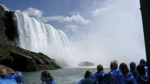 Diane Warren, of Hauppauge, visited Niagara Falls in