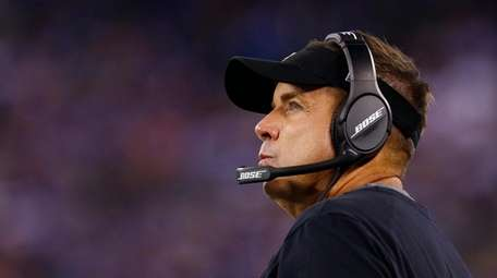 Coach Sean Payton of the New Orleans Saints