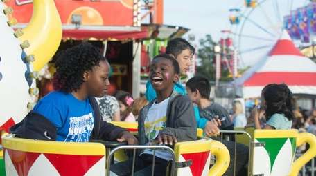 The Oyster Festival includes a midway with rides