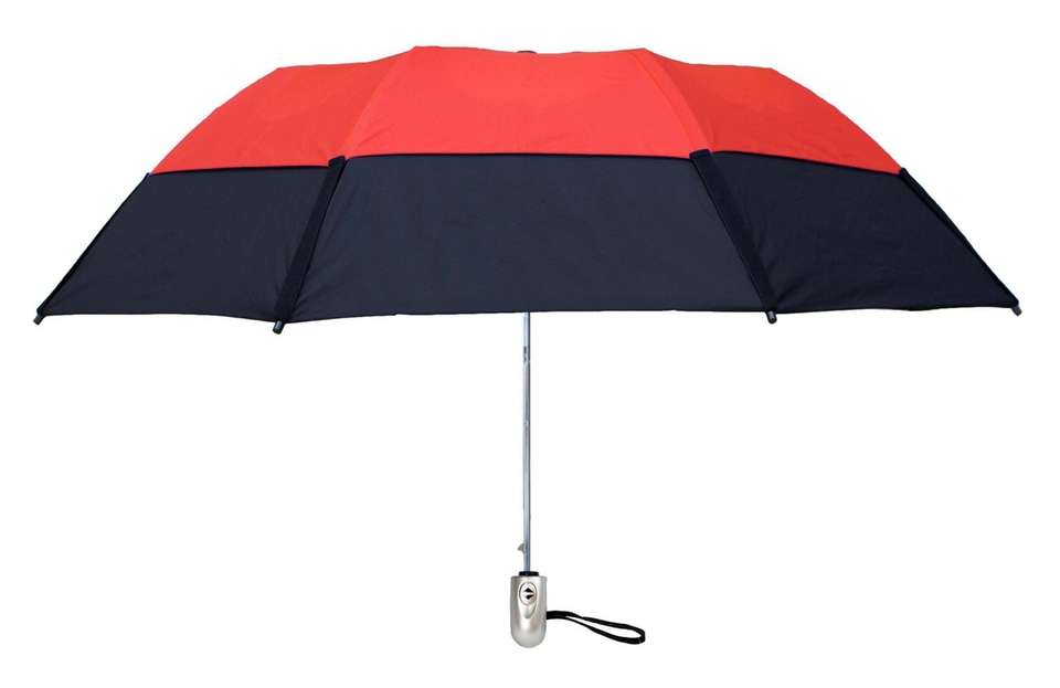 This umbrella, from Long Island-based GustBuster, will keep