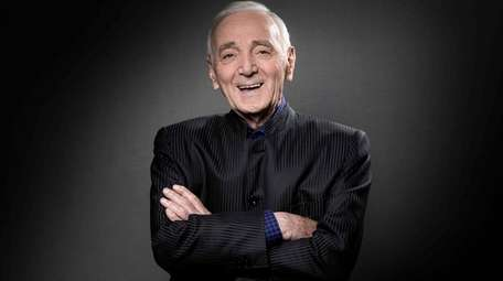 French-Armenian singer Charles Aznavour during a photo session