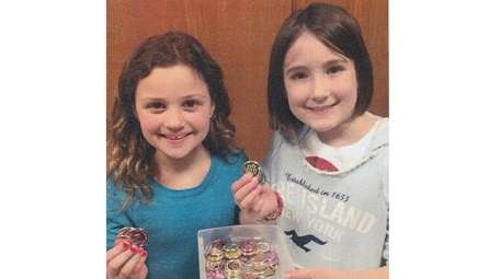 Kidsday reporters Ava Helbock, left, and Ella Ryan