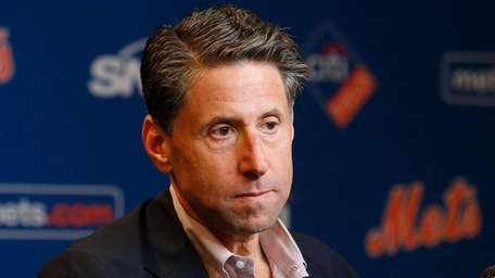 Mets COO Jeff Wilpon holds a news conference