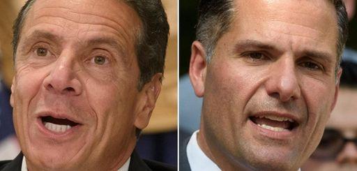 Democratic Gov. Andrew M. Cuomo, left, and Republican