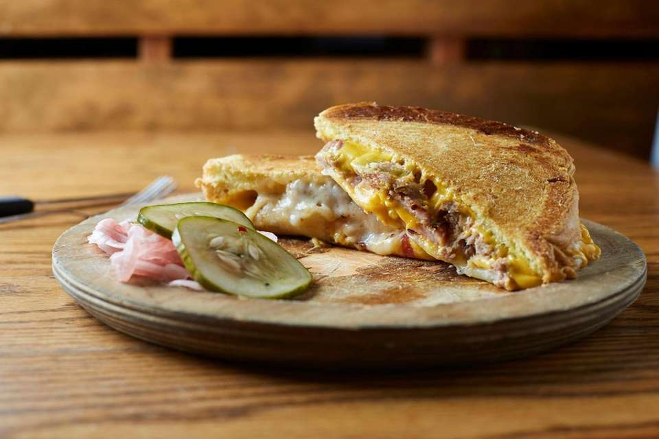 For its Three Little Pigs grilled cheese sandwich,
