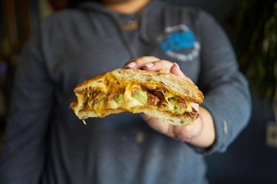 The gourmet grilled cheese at this eatery updates