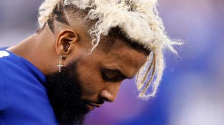 Odell Beckham of the Giants during the second