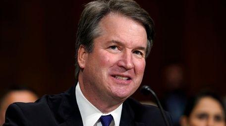 Supreme Court nominee Brett Kavanaugh testifies before the